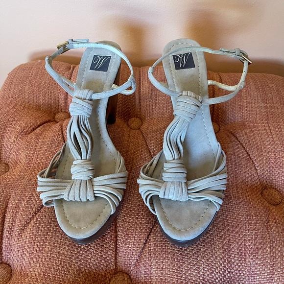 Zara Suede Platform Sandals